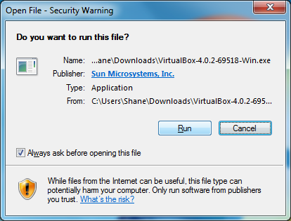 VirtualBox installation 1