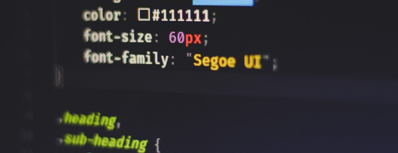 CSS being written